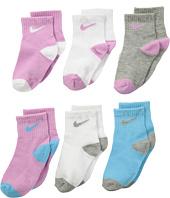 Nike Kids - 6-Pair Pack Swoosh Logo Socks (Infant/Toddler)