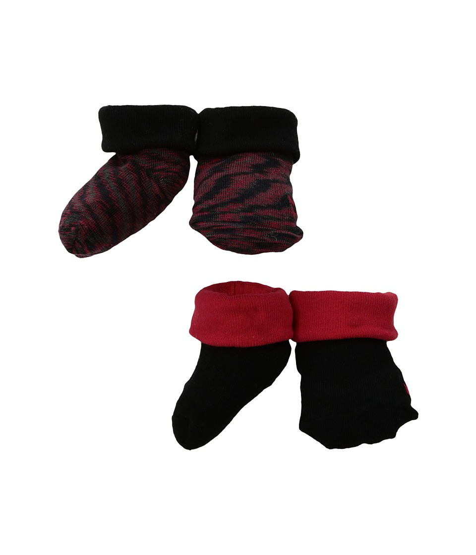 Nike Kids 2-Pair Pack Marled Knit Booties (Infant) (Gym Red) Boys Shoes