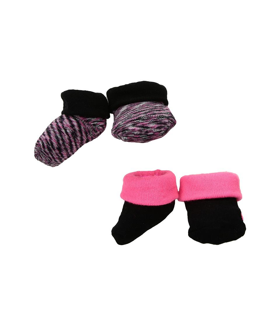 Nike Kids 2-Pair Pack Marled Knit Booties (Infant) (Hyper Pink/Black) Girls Shoes