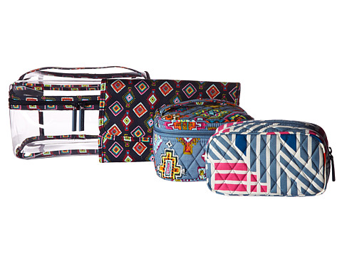 Vera Bradley Luggage Travel Cosmetic Set - Painted Medallions