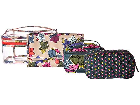 Vera Bradley Luggage Travel Cosmetic Set - Falling Flowers
