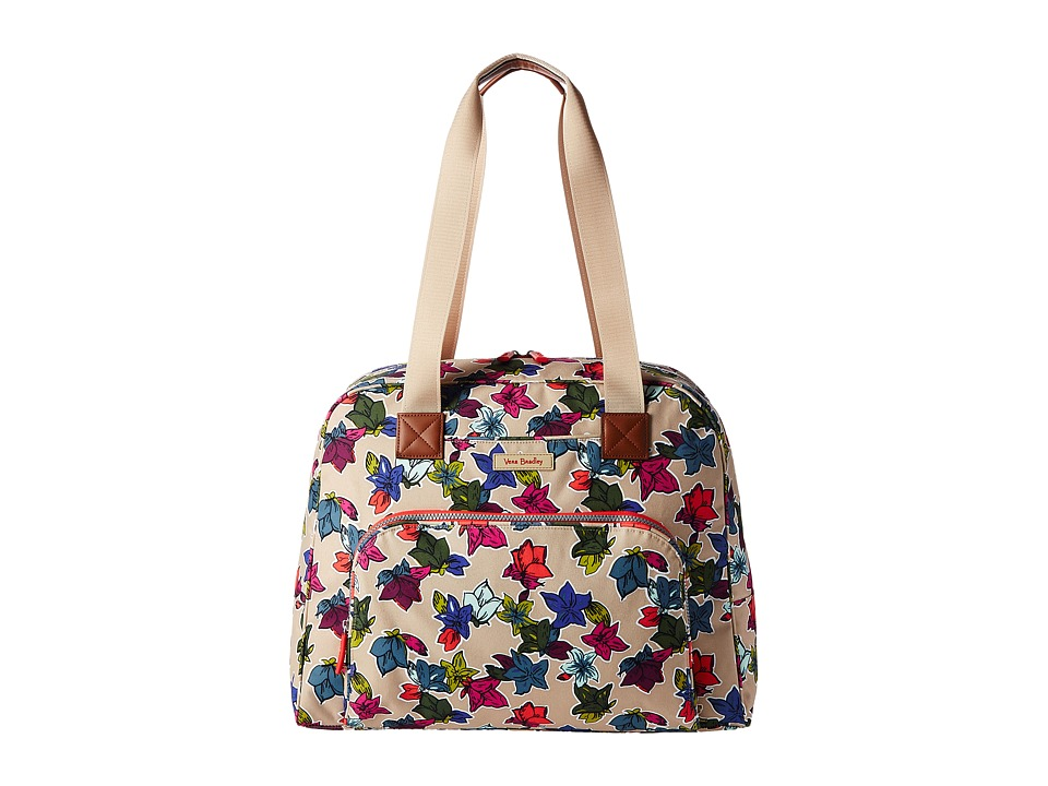 Vera Bradley Luggage Go Anywhere Carry-On (Falling Flowers Neutral) Carry on Luggage