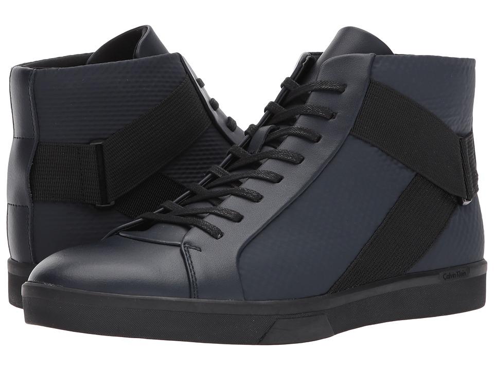 Calvin Klein Irvin (Dark Navy Brushed Leather/Tammy) Men