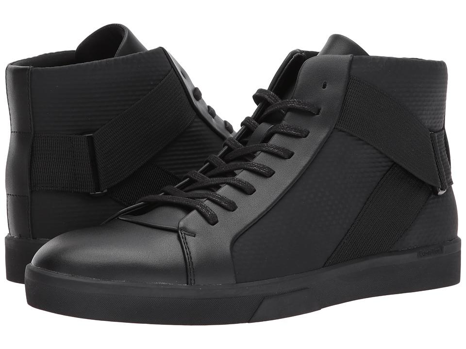 Calvin Klein Irvin (Black Brushed Leather/Tammy) Men