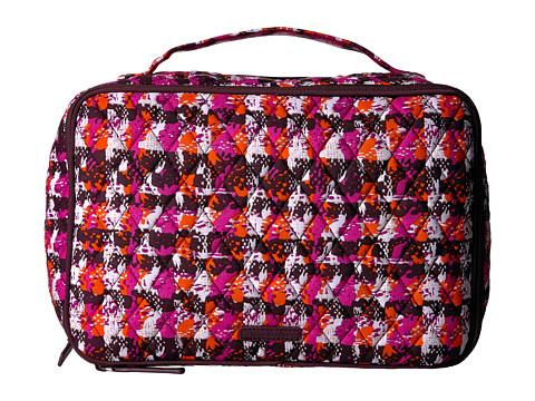 Vera Bradley Luggage Large Blush & Brush Makeup Case - Houndstooth Tweed