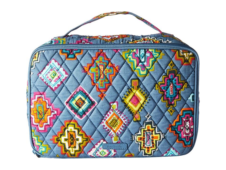 Vera Bradley Luggage Large Blush Brush Makeup Case (Painted Medallions) Cosmetic Case