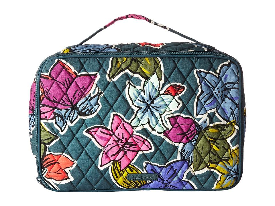 Vera Bradley Luggage Large Blush Brush Makeup Case (Falling Flowers) Cosmetic Case