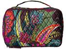 Vera Bradley Luggage Large Blush Brush Makeup Case