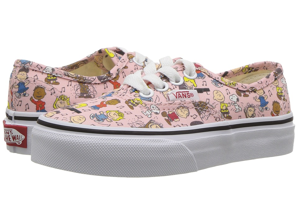 Vans Kids Authentic x Peanuts (Little Kid/Big Kid) ((Peanuts) Dance Party/Pink) Kids Shoes