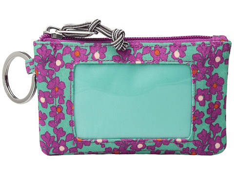 Vera Bradley Lighten Up Zip ID Case - Ditsy Dot