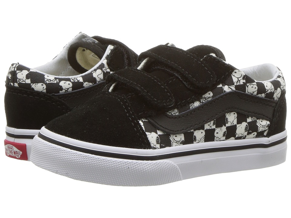 Vans Kids Old Skool V x Peanuts (Toddler) ((Peanuts) Snoopy/Checkerboard) Kid's Shoes