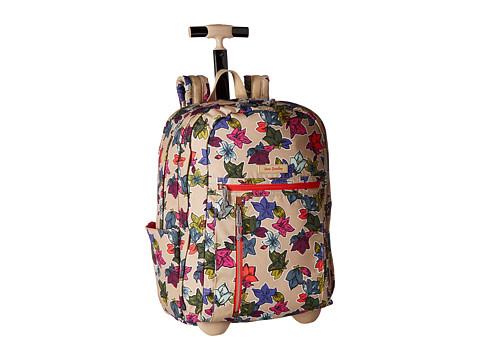 Vera Bradley Rolling Backpack - Falling Flowers Neutral