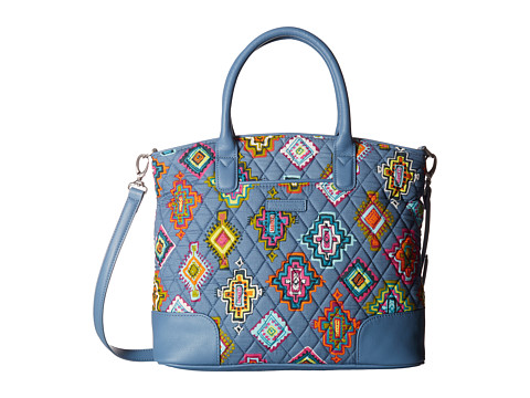 Vera Bradley Day Off Satchel - Painted Medallions/Mineral Blue