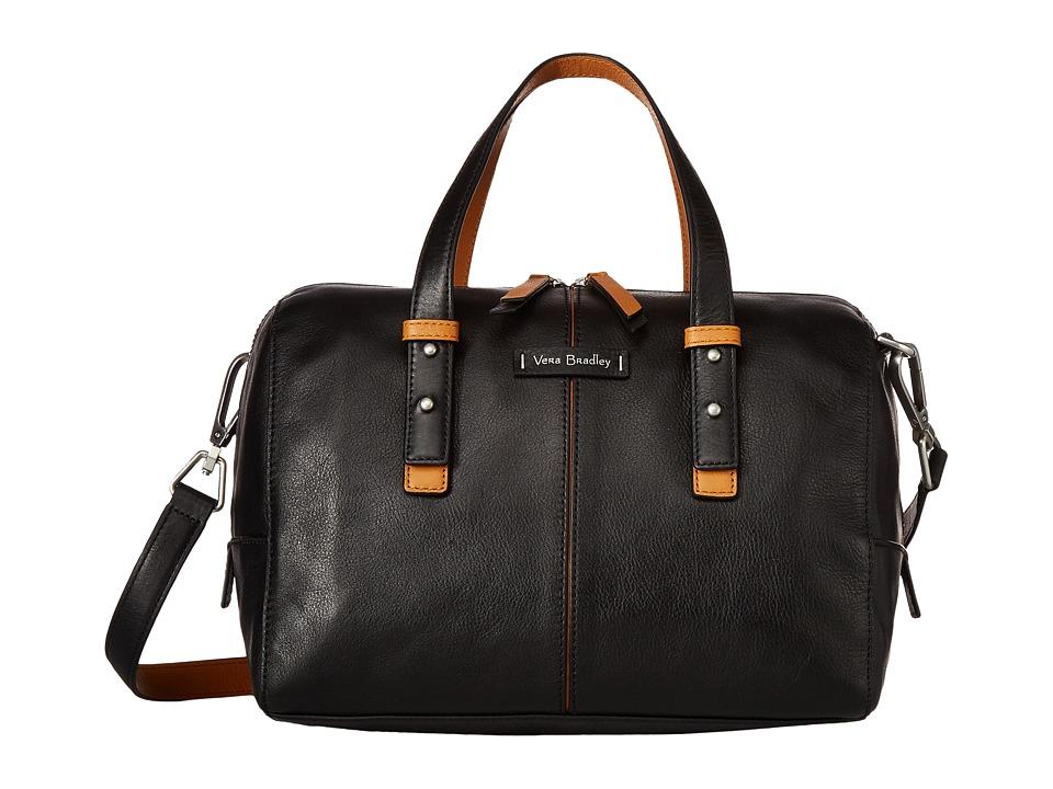 Vera Bradley Gallatin Satchel (Black) Satchel Handbags
