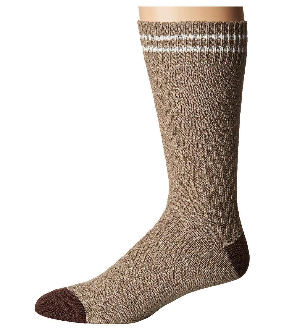 Cole Haan Cotton Chevron Boot Sock (Fossil Heather) Men