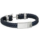 Steve Madden - Stainless Steel Aged Finish Leather Bracelet