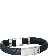 Steve Madden - Stainless Steel Leather Bracelet