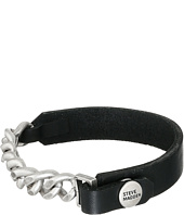 Steve Madden - Leather Curb Chain Bracelet