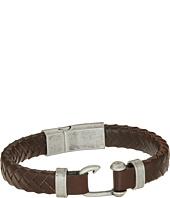 Steve Madden - Stainless Steel Leather Bracelet