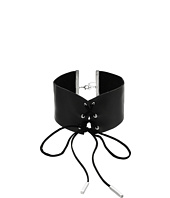 Steve Madden - Wide Leather Choker Necklace