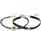 Steve Madden - Two-Piece Suede/Leather Beaded Choker Set
