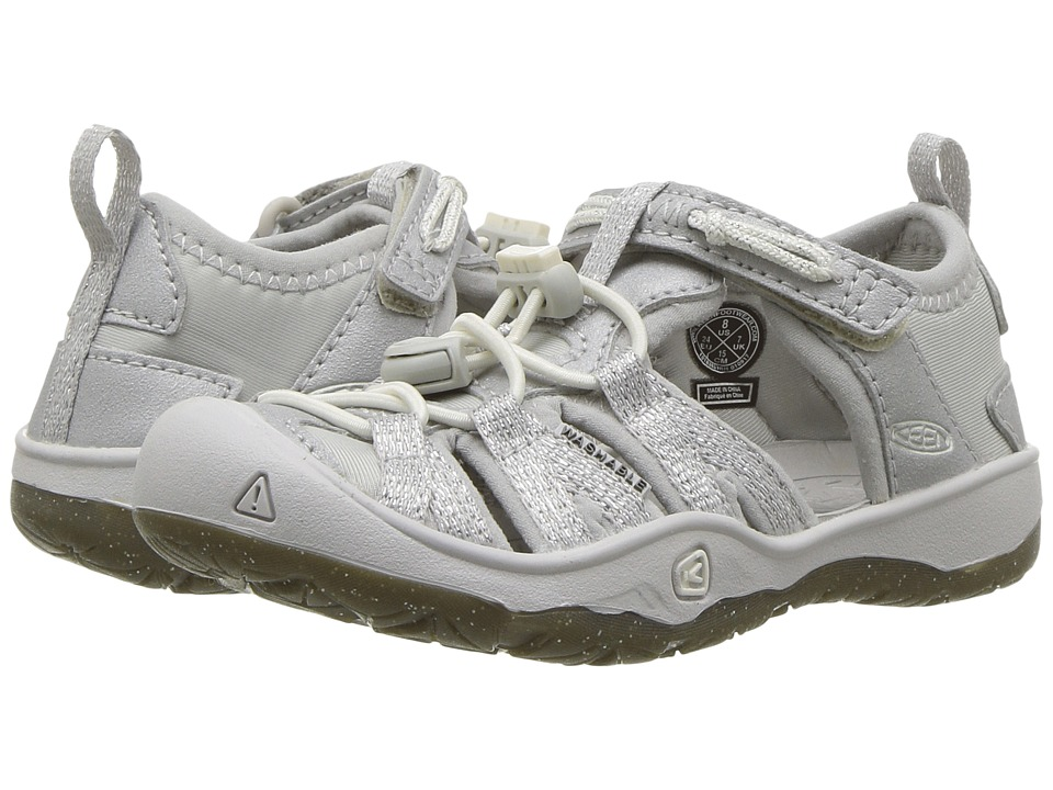 Keen Kids Moxie Sandal (Toddler/Little Kid) (Silver) Girl's Shoes