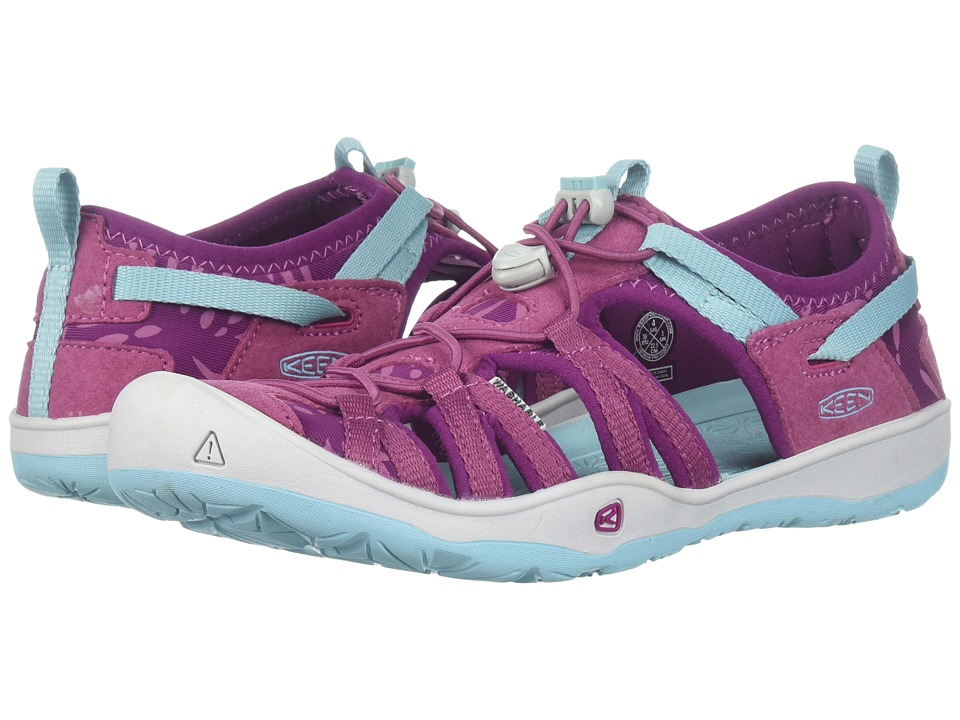 Keen Kids Moxie Sandal (Little Kid/Big Kid) (Red Violet/Pastel Turquoise) Girl's Shoes