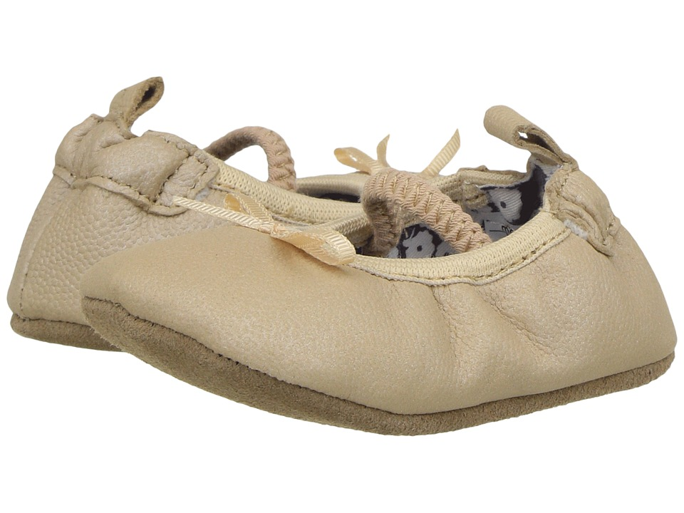 Robeez Rachel Ballet Flat First Kicks (Infant/Toddler) (Frosted Almond) Girl's Shoes