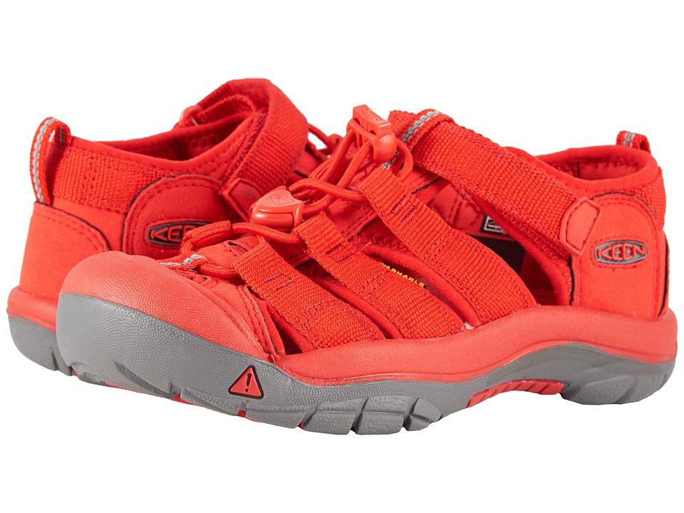Keen Kids Newport H2 (Little Kid/Big Kid) (Firey Red) Kids Shoes
