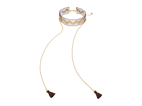 Vanessa Mooney The Clash Choker Necklace - Brown