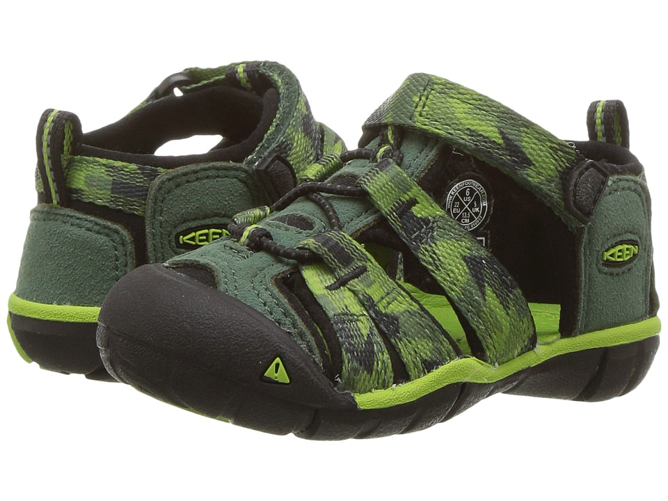 Keen Kids Seacamp II CNX (Toddler) (Duck Green/Greenery) Boys Shoes
