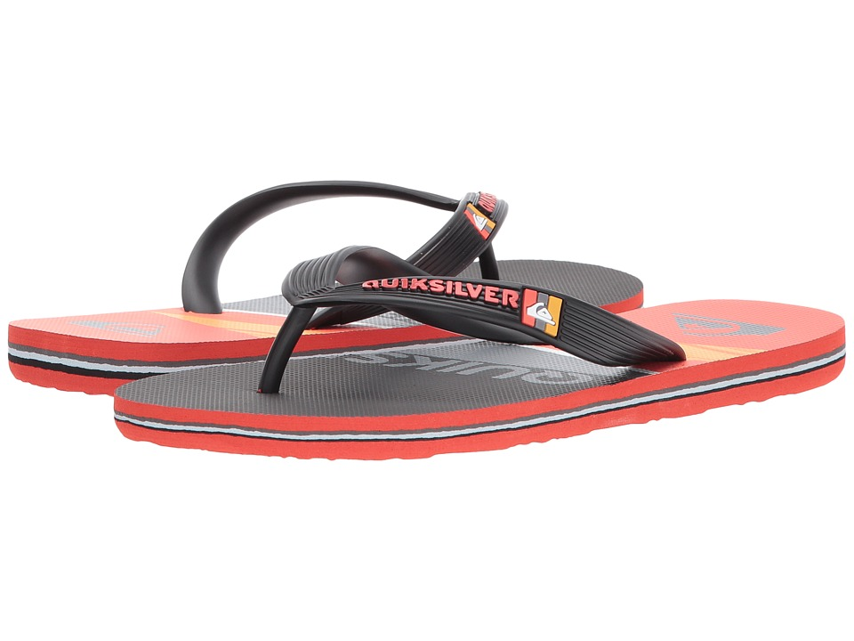 Quiksilver Kids Molokai Slash Logo (Toddler/Little Kid/Big Kid) (Black/Red/Grey) Boys Shoes