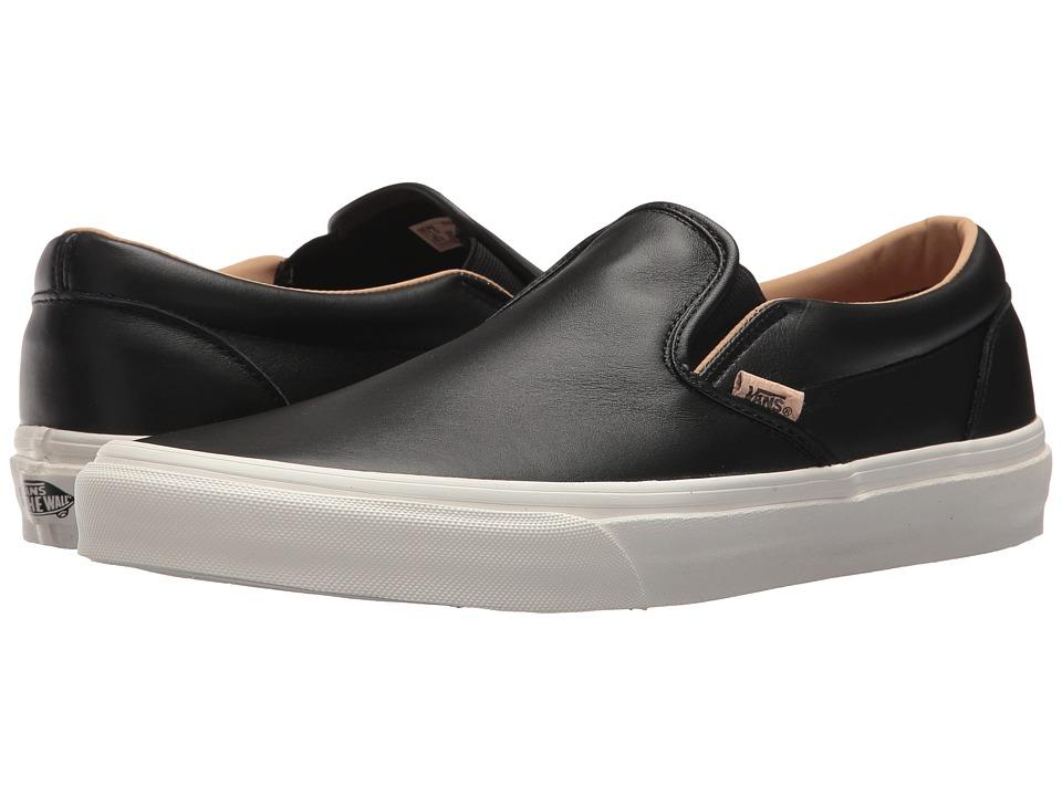 Vans Classic Slip-Ontm ((Lux Leather) Black/Porcini) Skate Shoes