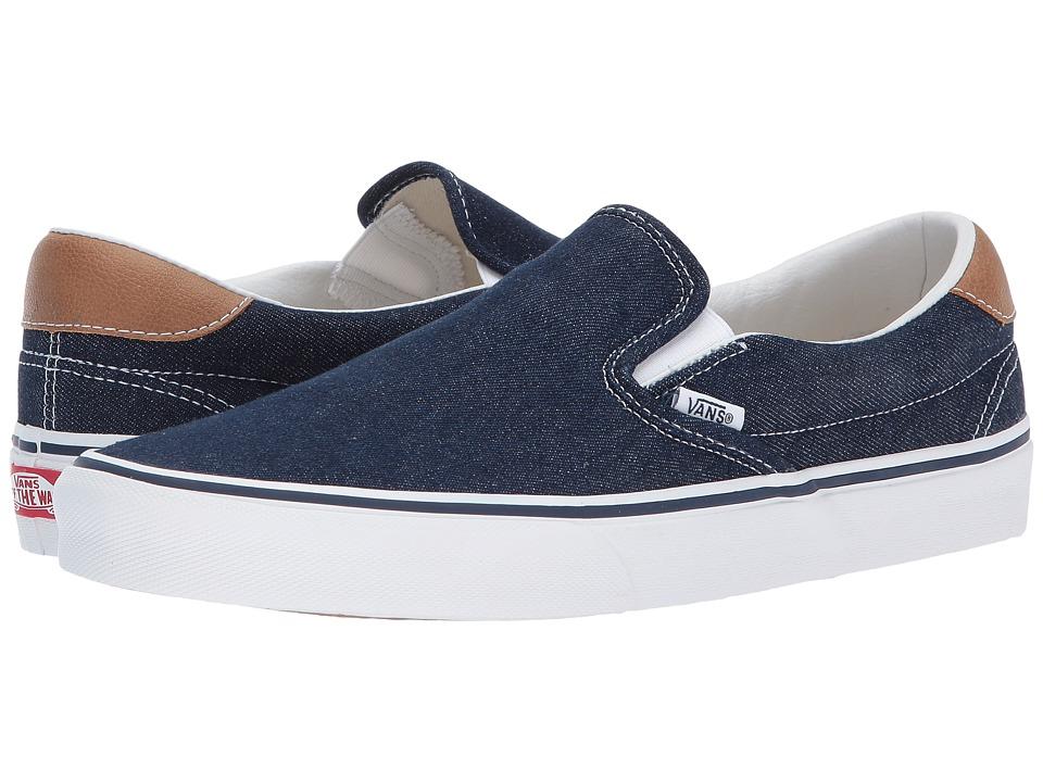 Vans - Slip-On 59 ((Denim C&L) Dress Blues/Chipmunk) Skate Shoes