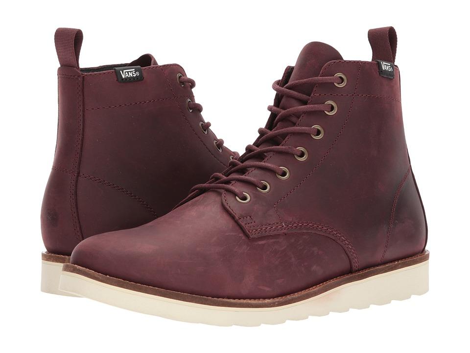 Vans Sahara Boot ((Leather) Rum Raisin) Men's Lace-up Boots