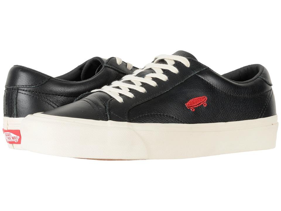 Vans Court Icon ((Salton Leather) Black/Turtledove) Skate Shoes