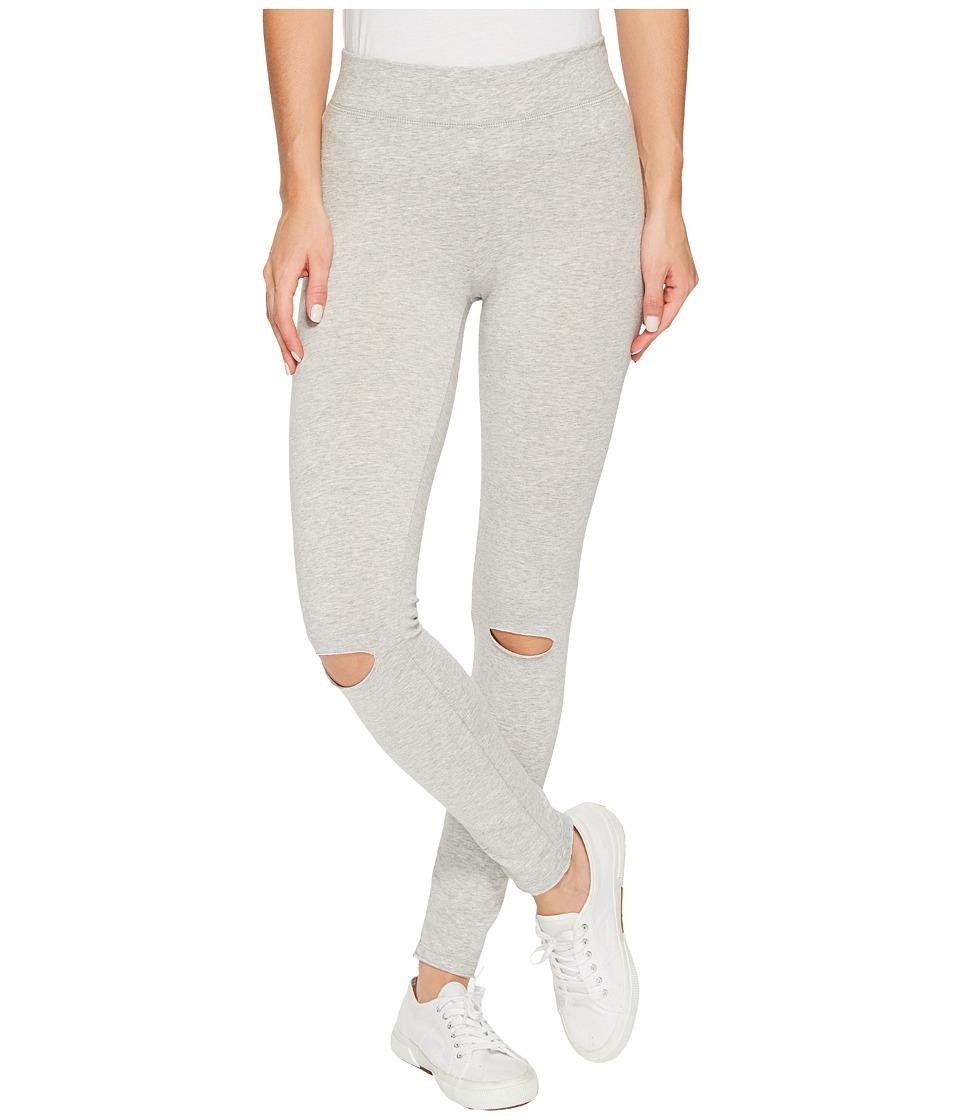 Alternative Cotton Modal Spandex Jersey Slashed Leggings (Heather Grey) Women
