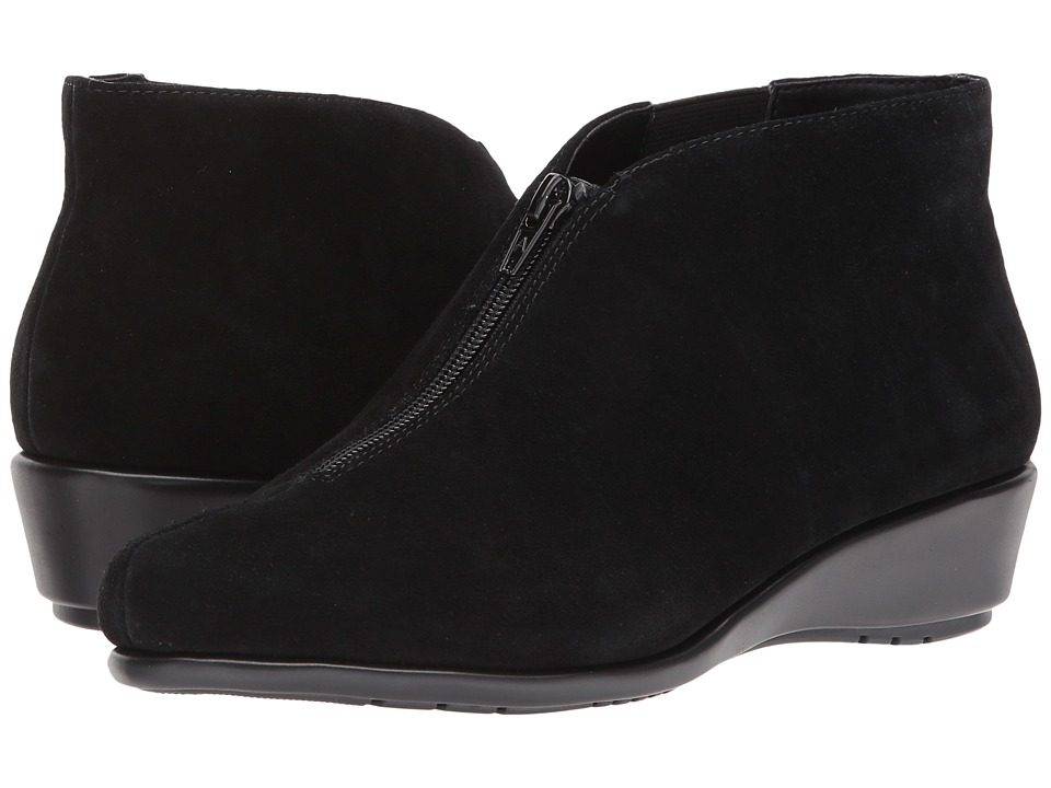 Retro Boots, Granny Boots, 70s Boots Aerosoles - Allowance Black Suede Womens Wedge Shoes $62.30 AT vintagedancer.com