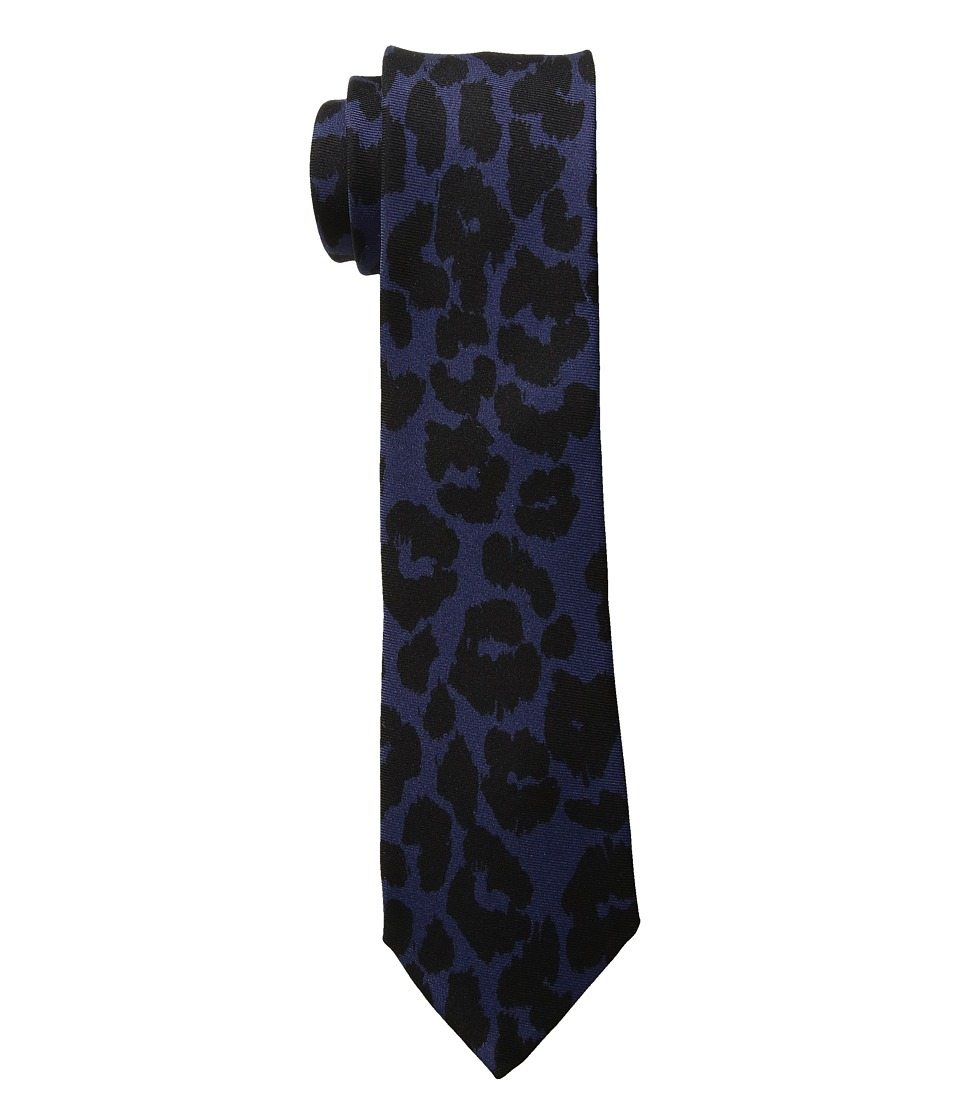 Paul Smith 6cm Leopard Tie (Indigo) Ties