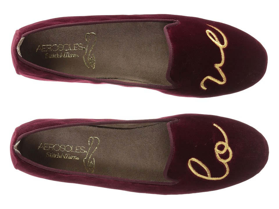 Aerosoles - Betunia (Wine Velvet Love) Womens Flat Shoes