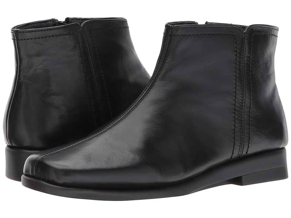 1950s Style Shoes Aerosoles - Double Trouble 2 Black Leather Womens Boots $98.95 AT vintagedancer.com