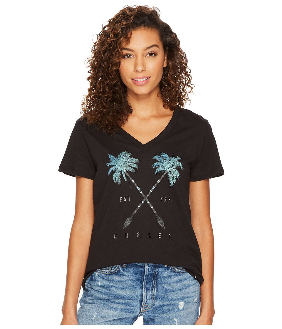 Hurley Fronds narrows Premium V-Neck In (Black) Women