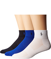 Polo Ralph Lauren - 3-Pack Polypropylene Technical Quarter with Arch Support and Polo Player Embroidery