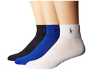 Polo Ralph Lauren 3-Pack Polypropylene Technical Quarter with Arch Support and Polo Player Embroidery