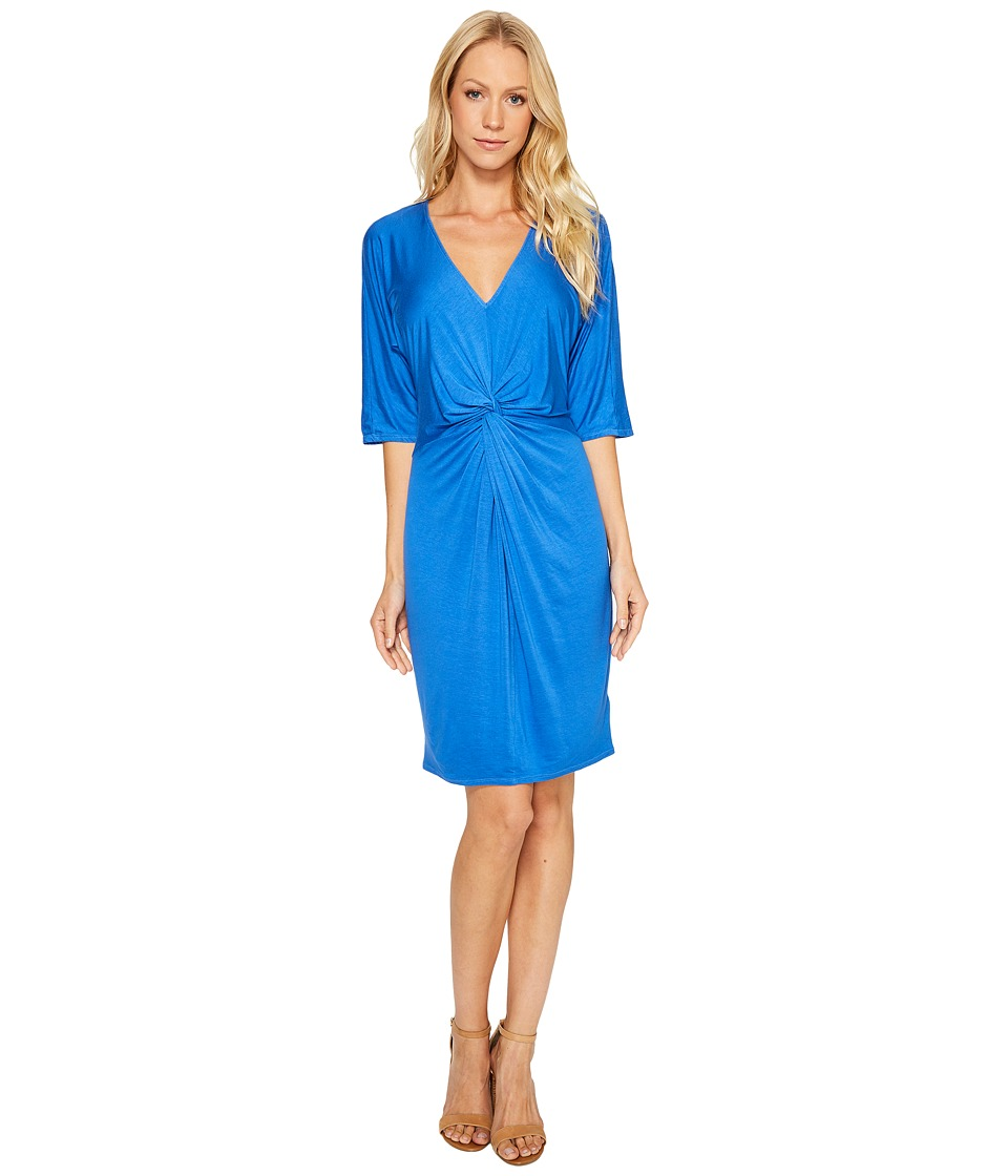 Three Dots Knot Dress (Mystic Blue) Women