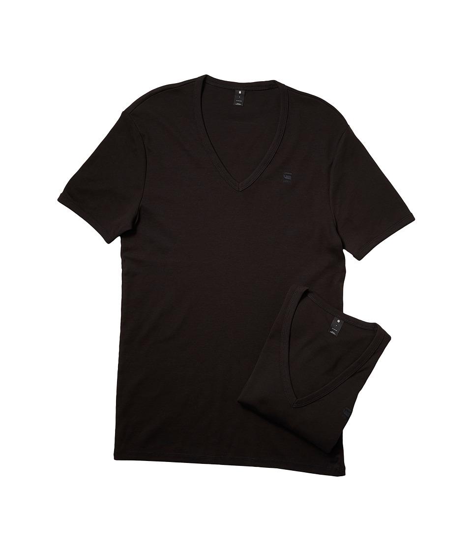 G-Star Base V Short Sleeve Tee 2-Pack (Black) Men