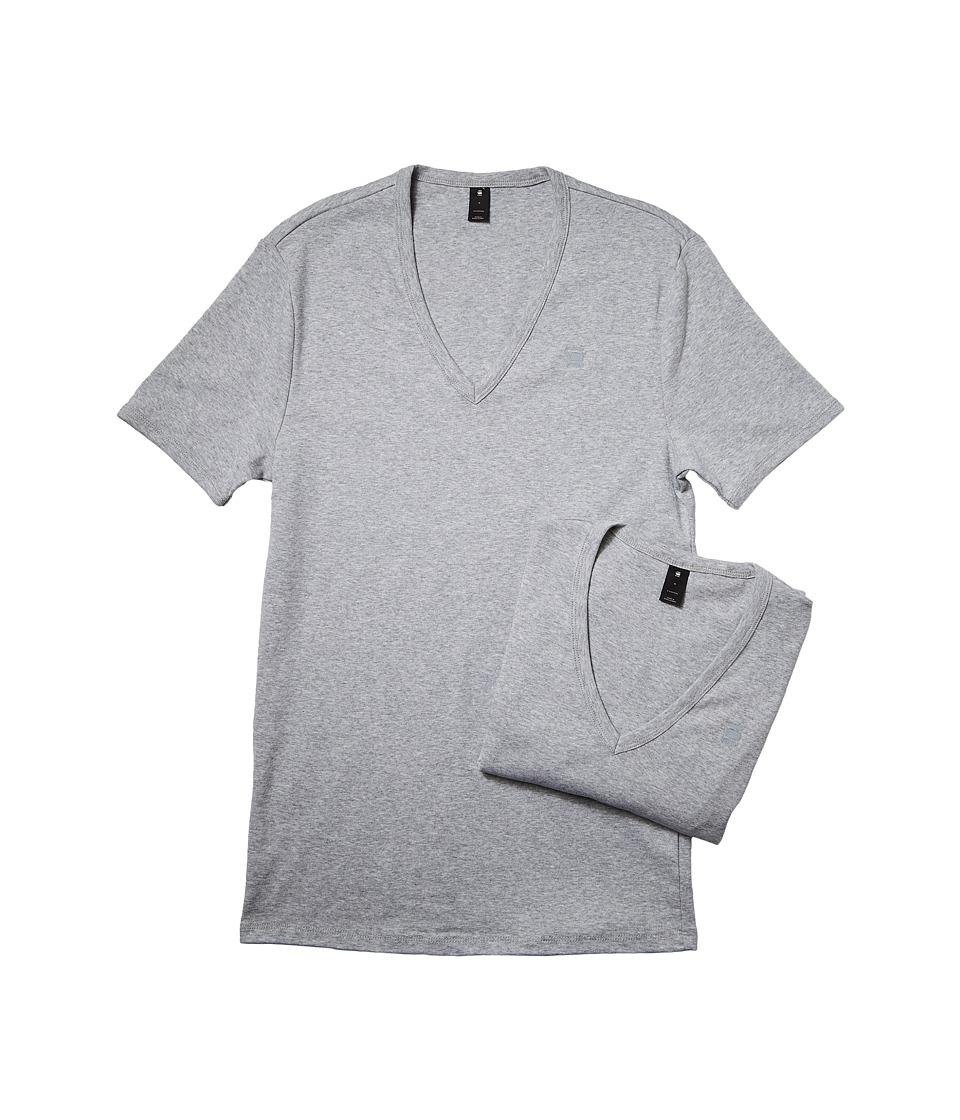 G-Star Base V Short Sleeve Tee 2-Pack (Grey Heather) Men