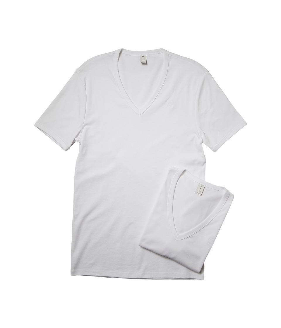 G-Star Base V Short Sleeve Tee 2-Pack (White) Men