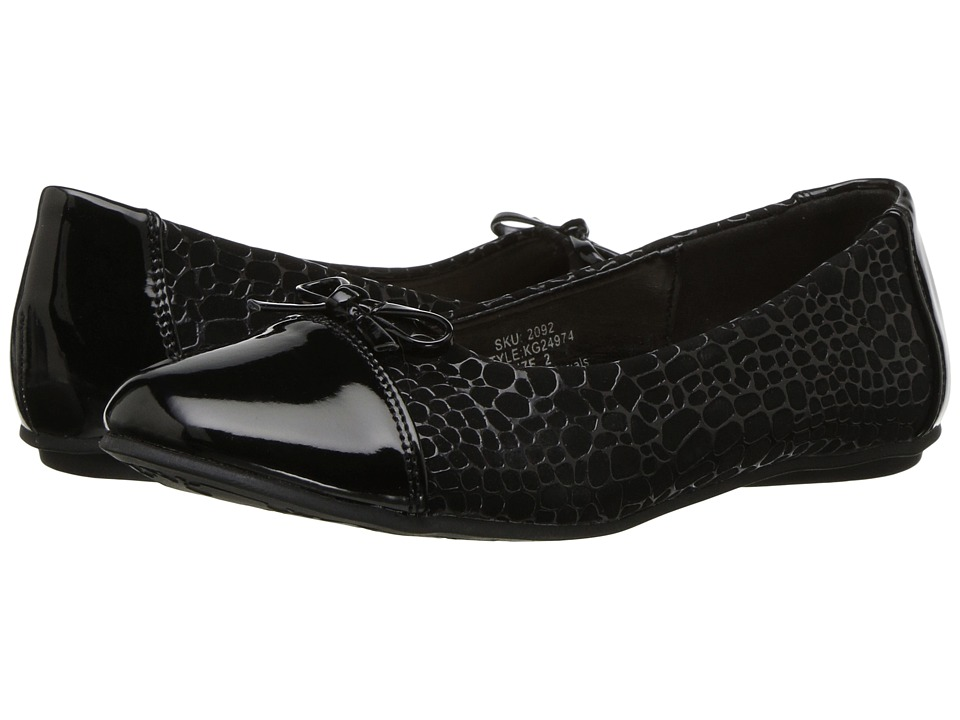 kensie girl Kids - Textured Flat with Patent Toe