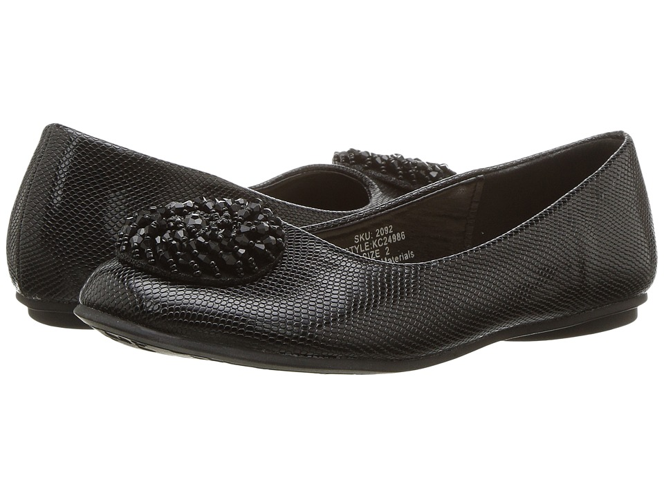 kensie girl Kids - Patent Flat with Embellished Toe